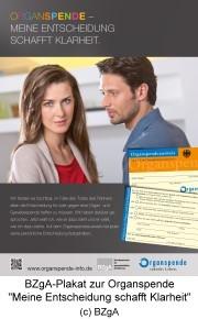 Plakatmotiv zur Entscheidungslösung bei Organspenden